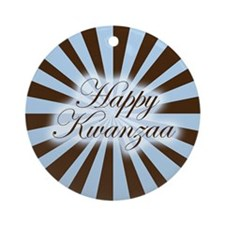 Pinwheel Happy Kwanzaa Ornament (Round)