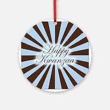 Pinwheel Happy Kwanzaa Ornament (Round)
