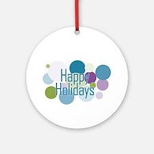 Dots Happy Holidays Ornament (Round)