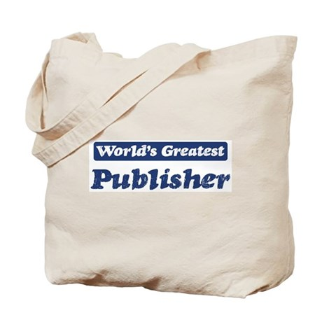 Worlds greatest Publisher Tote Bag