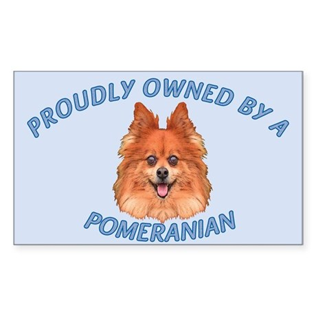 Proudly Owned Pomeranian Sticker (Rectangle)