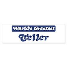 Worlds greatest Teller Bumper Bumper Sticker