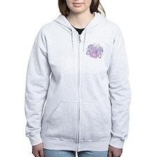 Aquarius Pink Zodiac Zip Hoodie