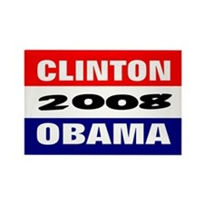 obama clinton in 2008 Rectangle Magnet