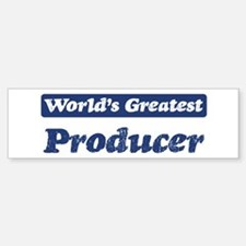 Worlds greatest Producer Bumper Bumper Bumper Sticker