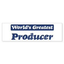 Worlds greatest Producer Bumper Bumper Sticker