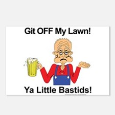 Git off my lawn! Postcards (Package of 8)