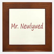 Mr. Newlywed Framed Tile