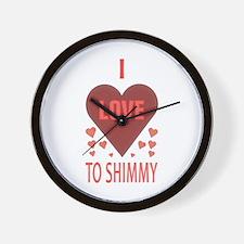 I Love to Shimmy Wall Clock