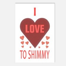 I Love to Shimmy Postcards (Package of 8)