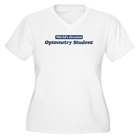 Worlds greatest Optometry Stu Women's Plus Size V-