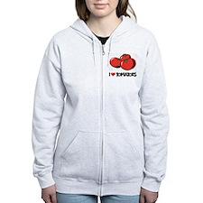 I Love Tomatoes Zip Hoodie