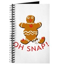 Oh Snap Cute Gingerbread Man Journal