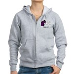 Black Death Women's Zip Hoodie