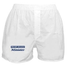 Worlds greatest Minister Boxer Shorts
