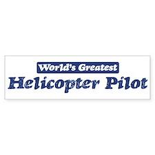 Worlds greatest Helicopter Pi Bumper Bumper Sticker