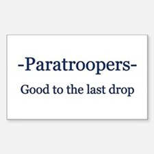 Paratrooper Rectangle Decal