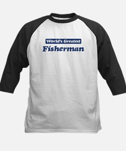 Worlds greatest Fisherman Kids Baseball Jersey