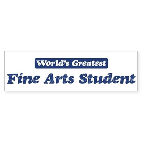 Worlds greatest Fine Arts Stu Sticker (Bumper 50 p