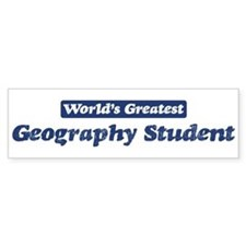 Worlds greatest Geography Stu Bumper Car Sticker