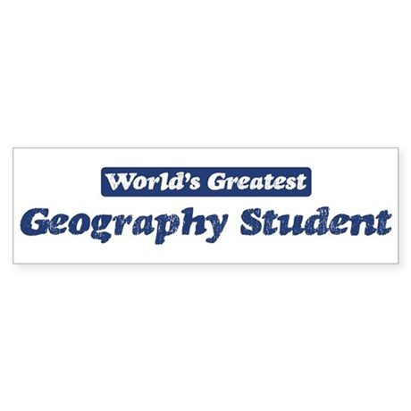 Worlds greatest Geography Stu Bumper Sticker