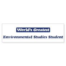 Worlds greatest Environmental Bumper Bumper Sticker