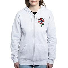 America Flower Zip Hoodie