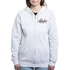 Vintage Alaska Zipped Hoody