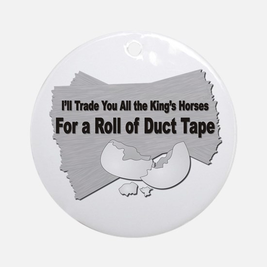 Duct Tape Ornament (Round)