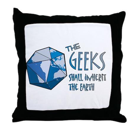 Geeks Inherit Throw Pillow