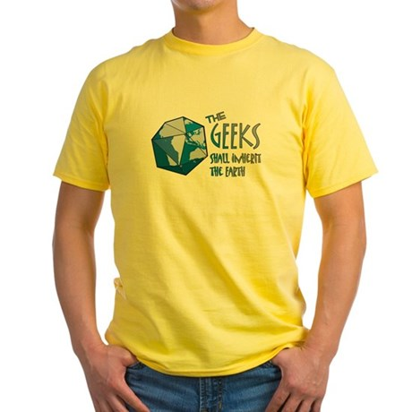 Geeks Inherit Yellow T-Shirt