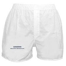 Worlds greatest Education Adm Boxer Shorts