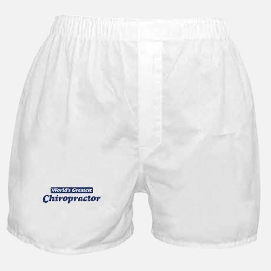 Worlds greatest Chiropractor Boxer Shorts