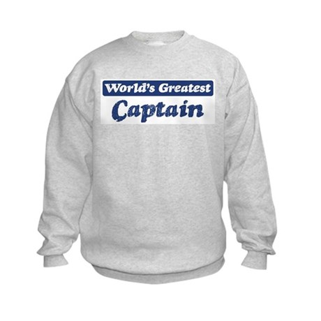 Worlds greatest Captain Kids Sweatshirt