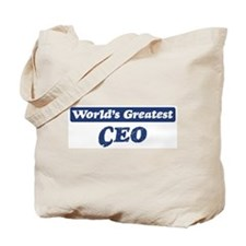 Worlds greatest CEO Tote Bag
