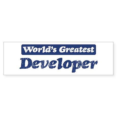Worlds greatest Developer Bumper Sticker