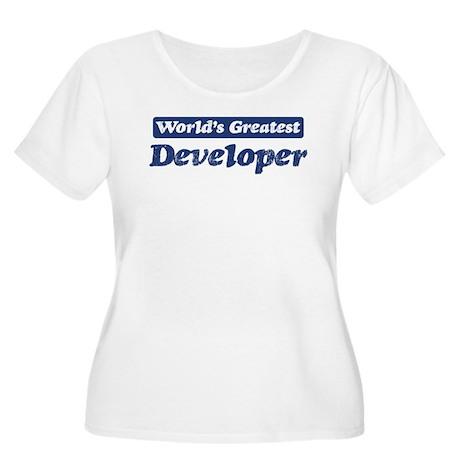 Worlds greatest Developer Women's Plus Size Scoop
