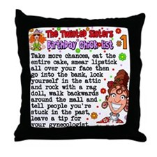 Cute Funny 60th birthday Throw Pillow