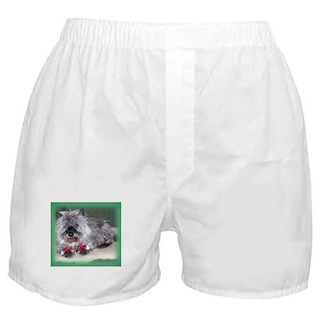 """Santa Claws"" Cairn Terrier Boxer Shorts"