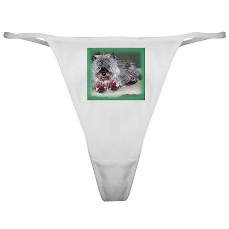 """""""Santa Claws"""" Cairn Terrier Classic Thong"""
