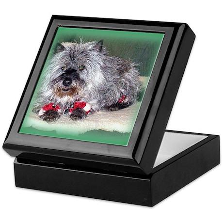 """""""Santa Claws"""" Cairn Terrier Keepsake Box"""