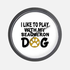Play With Beauceron Designs Wall Clock