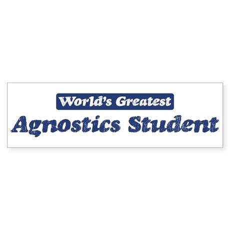 Worlds greatest Agnostics Stu Sticker (Bumper 50 p
