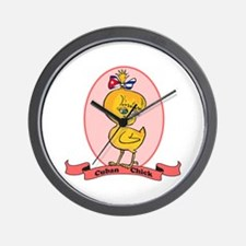 Cuban Chick Wall Clock