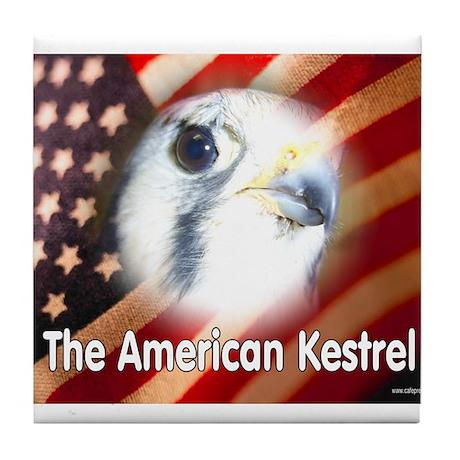 American Kestrel Tile Coaster