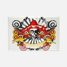 Festive Skull Rectangle Magnet