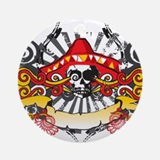 Festive Skull Ornament (Round)