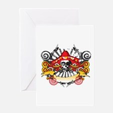 Festive Skull Greeting Card