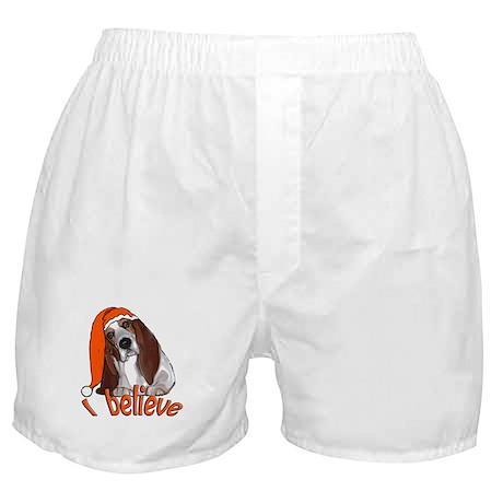 basset hound Santa Boxer Shorts