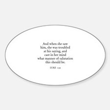 LUKE 1:29 Oval Decal